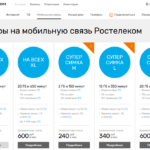 Мобильный интернет Ростелеком: тарифы и действующие предложения